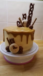 Chocolate, Caramel and Coffee Cake