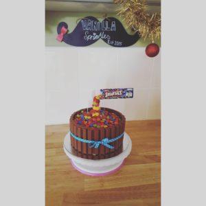Gravity Defining Smarties Cake